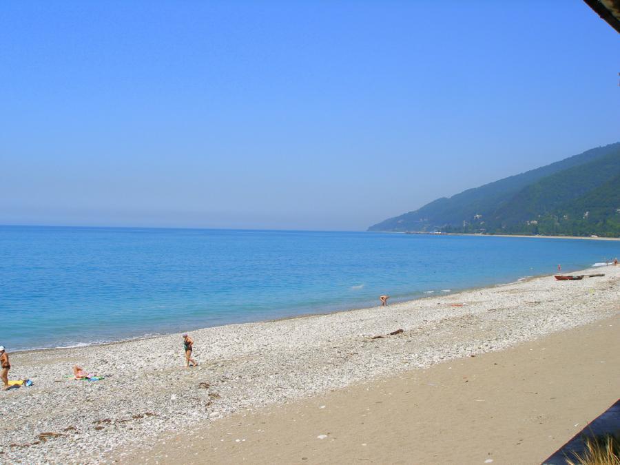 фото пляж гагра