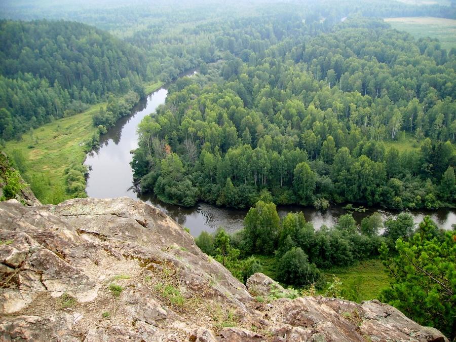 Россия тайга / леса умеренного пояса   ландшафты Медведь-камень